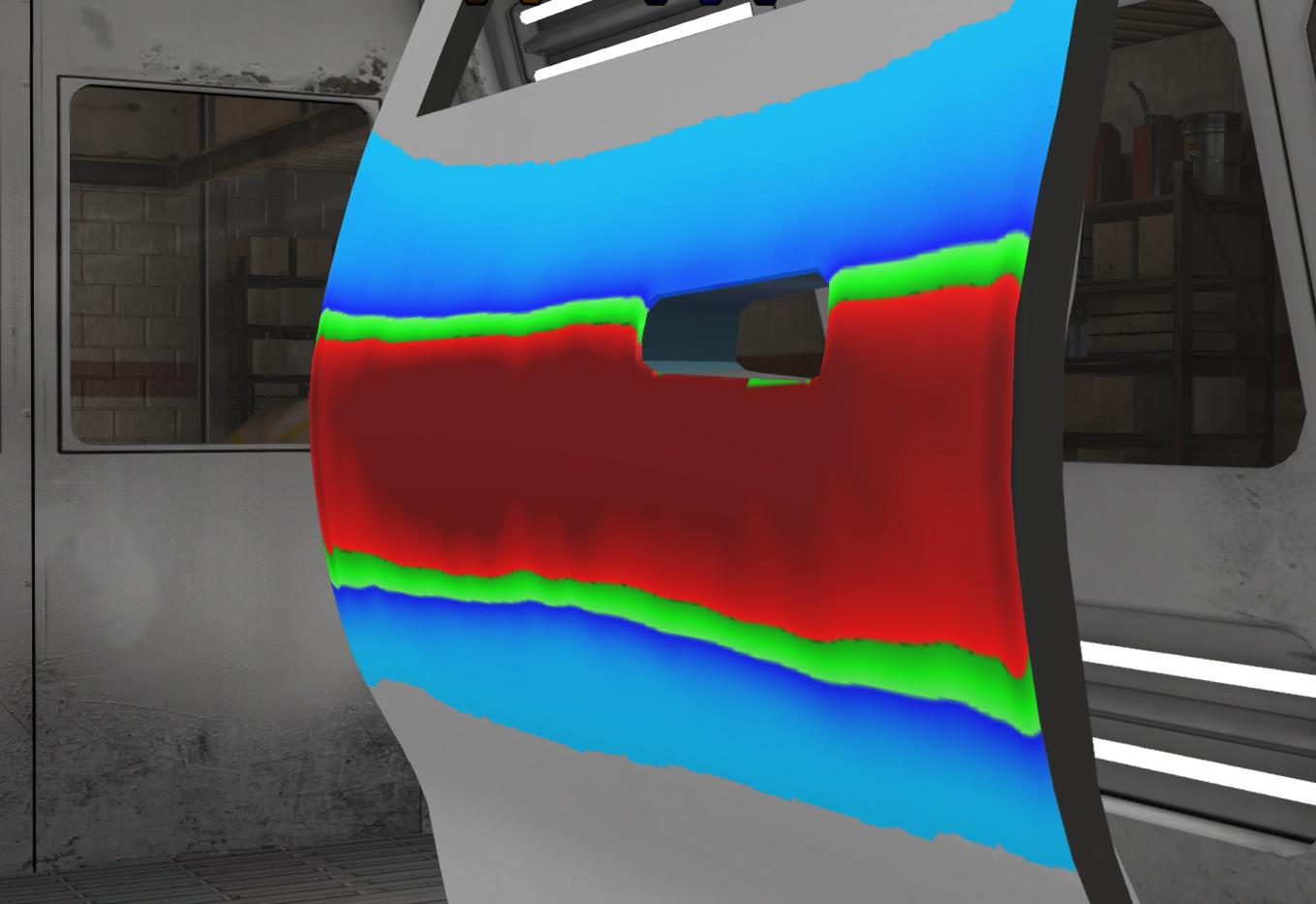 VR Vehicle Door Paint Training - Coverage Levels