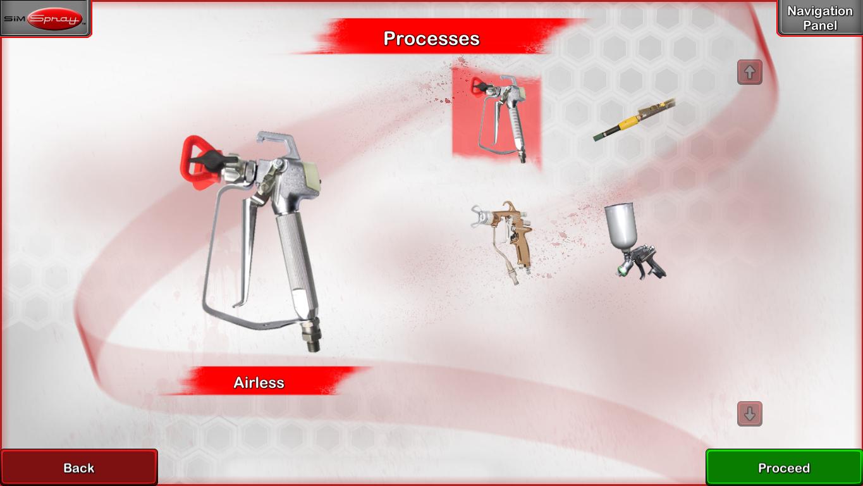 VR Paint Training Processes