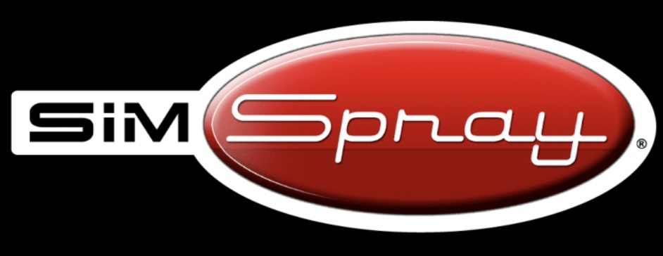 SimSpray Logo - Black Background